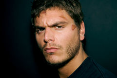 Attractive Serious Young Man. An Attractive Serious Young Man with scruff stock photos
