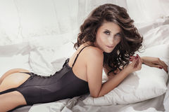Attractive sexy brunette beauty posing Royalty Free Stock Photography