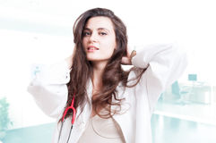 Attractive and sexy doctor Royalty Free Stock Photography