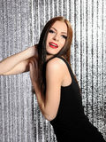 Attractive sexy woman clubbing dancing in disco Stock Image