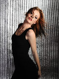 Attractive sexy woman clubbing dancing in disco Stock Images