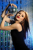Attractive sexy woman clubbing dancing in disco Royalty Free Stock Photo