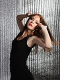 Attractive sexy woman clubbing, dancing in disco Royalty Free Stock Photography
