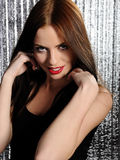 Attractive sexy woman clubbing, dancing in disco Royalty Free Stock Photos