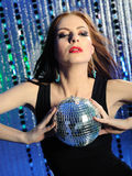 Attractive sexy woman dancing in the disco Stock Images