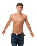 Attractive Shirtless Man Stock Images