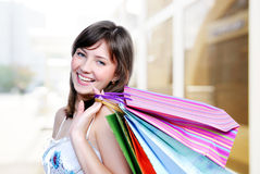 Attractive shopper Royalty Free Stock Photo