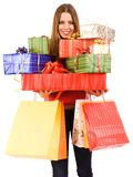 Attractive shopping gir Royalty Free Stock Photography