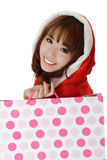 Attractive shopping girl Stock Photography