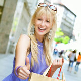 Attractive shopping woman Stock Image