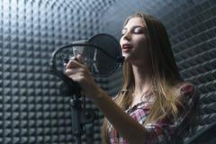 Attractive singer Stock Photo