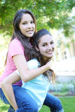 Attractive sisters at Home royalty free stock photos