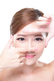 Attractive skin care woman face Royalty Free Stock Photo