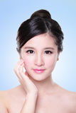 Attractive Skin care woman face Stock Photo