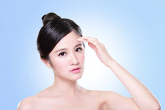 Attractive Skin care woman face Royalty Free Stock Photos