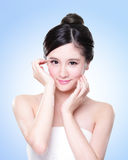 Attractive Skin care woman face Stock Images