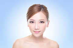 Attractive skin care woman face Royalty Free Stock Photography