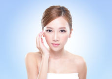 Attractive skin care woman face Royalty Free Stock Images