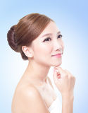Attractive skin care woman face Stock Photos