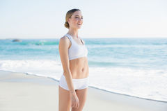 Attractive slender woman looking away Stock Images