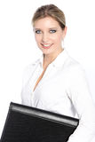 An attractive smiling blond haired business woman Stock Photography