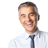 Attractive smiling businessman Stock Image