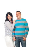 Attractive smiling couple Stock Photos