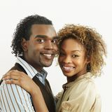 Attractive smiling couple Royalty Free Stock Images
