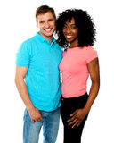 Attractive smiling couple hugging Royalty Free Stock Photography