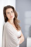 Attractive smiling female at home Royalty Free Stock Image