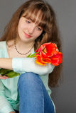 Attractive smiling girl Stock Photo