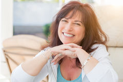 Attractive Smiling Middle Aged Woman Portrait Royalty Free Stock Photos