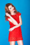 Attractive Smiling Redhead Stock Photography