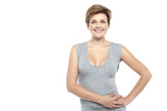 Attractive smiling woman portrait Royalty Free Stock Photos
