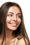 Attractive Smiling Woman Portrait On White Background Royalty Free Stock Photos