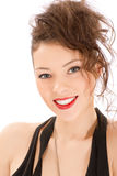 Attractive smiling woman portrait. On white background Royalty Free Stock Photography