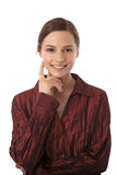 Attractive smiling woman. Portrait of attractive smiling young woman Royalty Free Stock Image