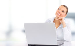 Attractive smiling young business woman Royalty Free Stock Images