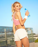 Attractive sport woman Stock Images