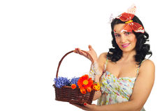 Attractive spring woman Royalty Free Stock Image