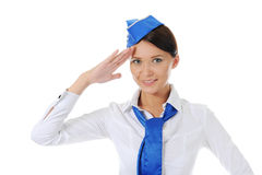 Attractive stewardess Royalty Free Stock Photo