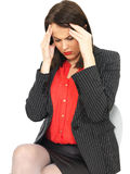Attractive Stressed Young Business Woman Royalty Free Stock Image