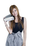 Attractive Student with books Stock Image
