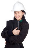Attractive student of engineering royalty free stock photo