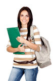 Attractive student girl Stock Photo