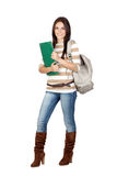Attractive student girl Stock Images