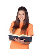 Attractive student girl reading Royalty Free Stock Images