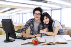 Attractive students in the class Royalty Free Stock Photos