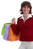 Attractive, stylish caucasian woman shopping Royalty Free Stock Photo