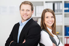 Attractive successful business partners Royalty Free Stock Photos